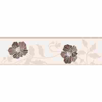 "Papierbordüre ""Avenzio 4"" Blumen braun/cremefarben 5 x 0,17 m"