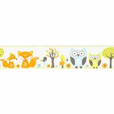 Papierbordüre 'Esprit Kids 3' Wald blau/orange/weiß 5 x 0,13 m