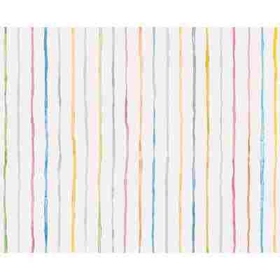 Papiertapete 'Esprit Kids 3' Streifen bunt 10,05 x 0,53 m