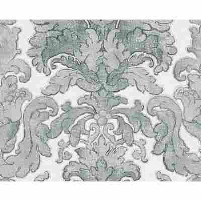 "Vliestapete ""Burlesque"" Ornamente blau/grau/weiß 10,05 x 0,53 m"