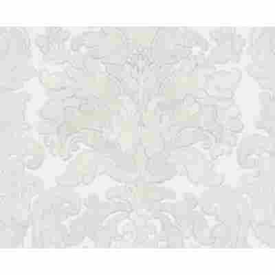 "Vliestapete ""Burlesque"" Ornamente grau metallic weiß 10,05 x 0,53 m"