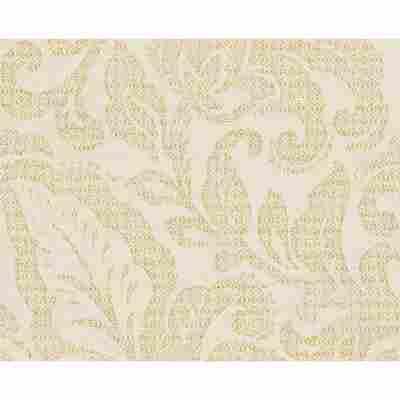 "Vliestapete ""Burlesque"" Ornamente creme/gelb metallic 10,05 x 0,53 m"