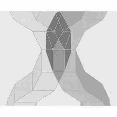 "Vliestapete ""Contzen 4"" Würfelgrafik grau metallic weiß 10,05 x 0,53 m"