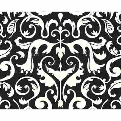 """Vliestapete """"Contzen 2"""" Ornamente metallic schwarz/weiß 10,05 x 0,53 m"""