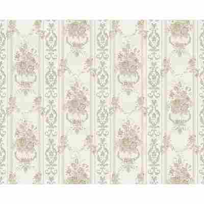 "Papiertapete ""Chateau 4"" Ornamente beige/grau metallic 10,05 x 0,53 m"