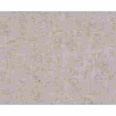 "Vliestapete ""Cocktail 2"" Uni braun/grau metallic 10,05 x 0,53 cm"