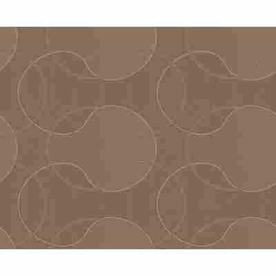 "Vliestapete ""Cocoon"" Ornamente braun metallic 10,05 x 0,53 m"