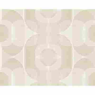 "Vliestapete ""Danke 14"" Ornamente beige/creme/weiß 10,05 x 0,53 m"