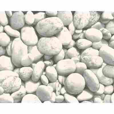 """Papiertapete """"Dekora Natur 5"""" Steine grau/weiß 10,05 x 0,53 m"""