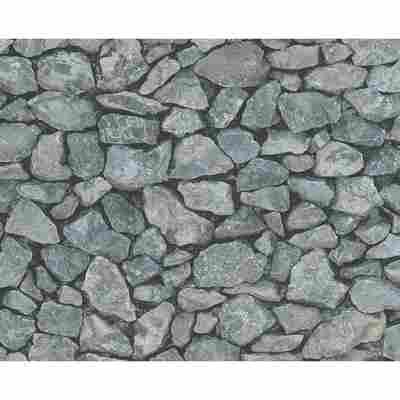 """Papiertapete """"Dekora Natur 6"""" Steine grau 10,05 x 0,53 m"""