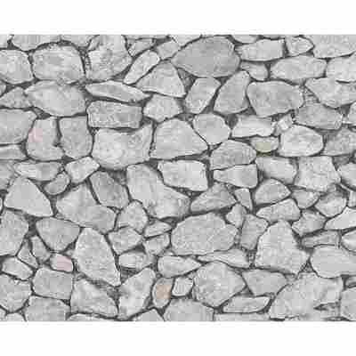 """Papiertapete """"Dekora Natur 6"""" Steine creme/grau 10,05 x 0,53 m"""