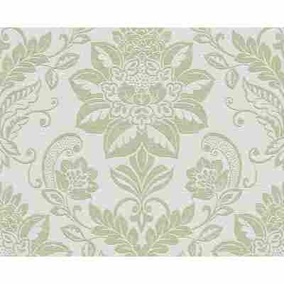 "Vliestapete ""DIY"" Ornamente beige/grün metallic 10,05 x 0,53 m"