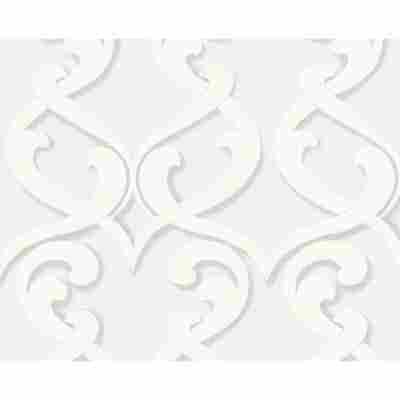 "Vliestapete ""Flock 3"" Ornamente weiß 10,05 x 0,53 m"