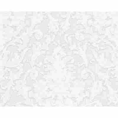 "Vliestapete ""Flock 4"" Ornamente creme metallic/weiß 10,05 x 0,53 m"