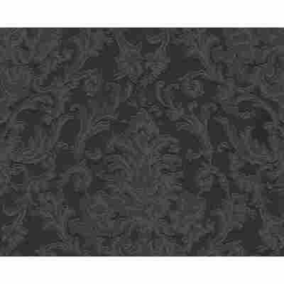 "Vliestapete ""Flock 4"" Ornamente schwarz 10,05 x 0,53 m"