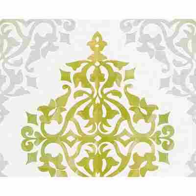"Vliestapete ""Flock 4"" Ornamente grün/weiß 10,05 x 0,53 m"
