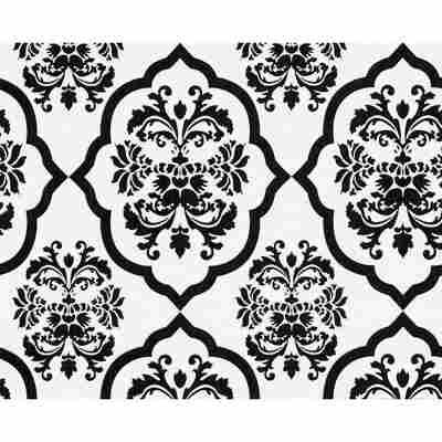"Vliestapete ""Naf Naf"" Ornamente schwarz/weiß 10,05 x 0,53 m"