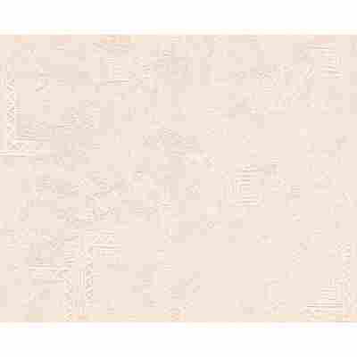 "Strukturprofiltapete ""Okay 2003"" Matt beige 10,05 x 0,53 m"
