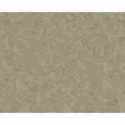 "Vliestapete ""OK 6"" Ornamente Uni graubraun 10,05 x 0,53 m"