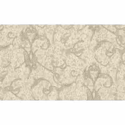 "Vliestapete ""Jungle"" Ornamente beige/creme metallic 10,05 x 1,06 m"