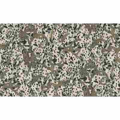 """Vliestapete """"Jungle"""" Ornamente creme metallic schwarz 10,05 x 1,06 m"""