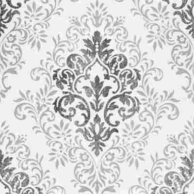 "Vliestapete ""Jette 4"" Ornament schwarz/grau/weiß 10,05 x 0,53 m"