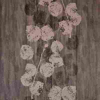 Vliestapete 'Brigitte Home' Blätter braun metallic 10,05 x 0,53 m