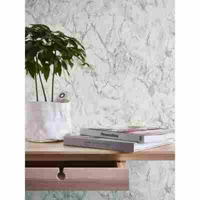 AS Creation Vliestapete Neue Bude Marmoroptik Weiß