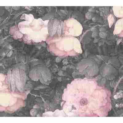 Vliestapete Metropolitan Stories 'Anke & Daan' Amsterdam, Blume Aquarell rosé 10,05 x 0,53 m