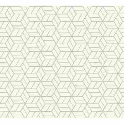 Vliestapete Metropolitan Stories 'Lizzy' London, 3D-Grafik altweiß-silber 10,05 x 0,53 m