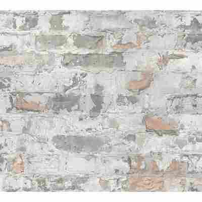 Vliestapete Metropolitan Stories 'Paul Bergmann' Berlin, Mauerwerk grau-graubeige-kitt 10,05 x 0,53 m