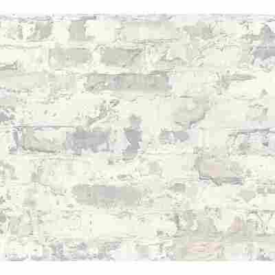 Vliestapete Metropolitan Stories 'Paul Bergmann' Berlin, Mauerwerk grau-weiß 10,05 x 0,53 m
