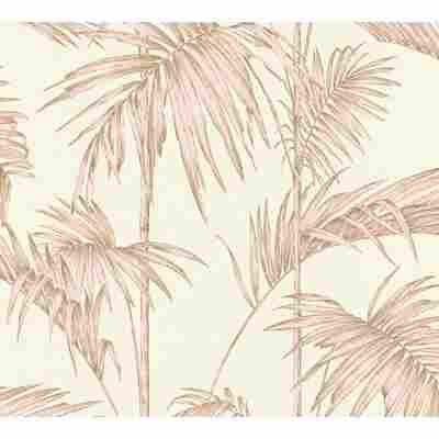 Vliestapete Metropolitan Stories 'Lola' Paris, Palmgras altweiß-rosé 10,05 x 0,53 m
