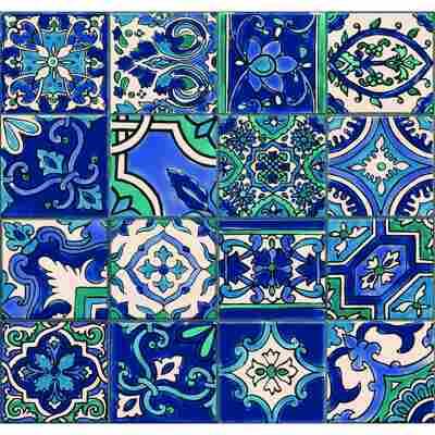 Vliestapete 'Ceramics' riasan-mehrfarbig 400 x 67,5 cm