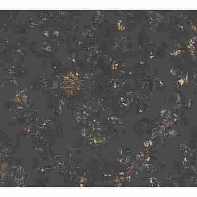Vliestapete 'Neue Bude 2.0 Edition 2' schwarz-metallic, Ornament
