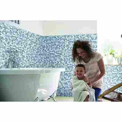 Wandbelag 'Ceramics' hexagon-grau 400 x 67,5 cm