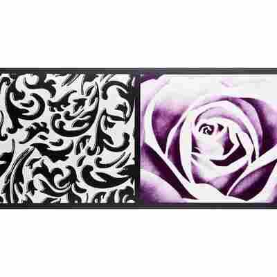 "SK-Borte ""Rose"" lila 13,25 cm"