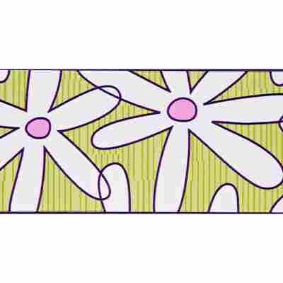 "SK-Borte ""Blume"" weiß/grün 5,3 cm"