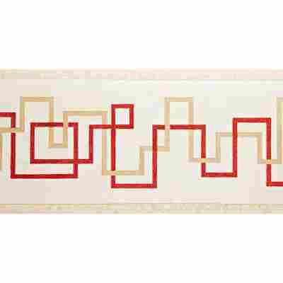 "SK-Borte ""Linien"" rot/beige 13,25 cm"