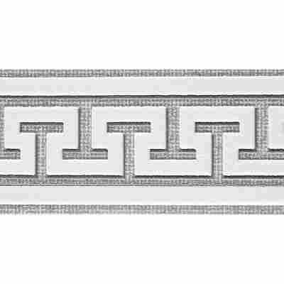"""SK-Borte """"Meander"""" grau/weiß 5,3 cm"""