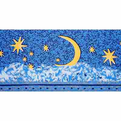 "Bordüre ""Leuchtstern"" blau/gelb"