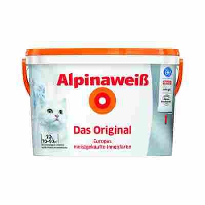 Alpinaweiß Premium-Innenfarbe 'Das Original', weiß, 10 l