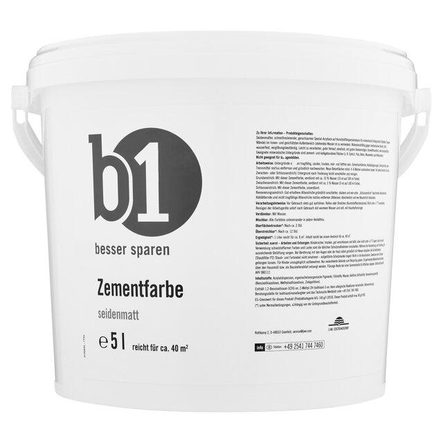 B1 Zementfarbe Seidenmatt Grau 5 L ǀ Toom Baumarkt