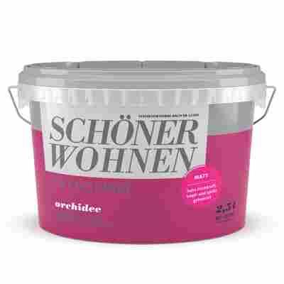 Wand- und Deckenfarbe Trendfarbe 'Orchidee' dunkelpink matt 2,5 l