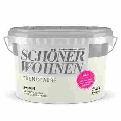 Wand- und Deckenfarbe Trendfarbe 'Pearl' perlweiß matt 2,5 l
