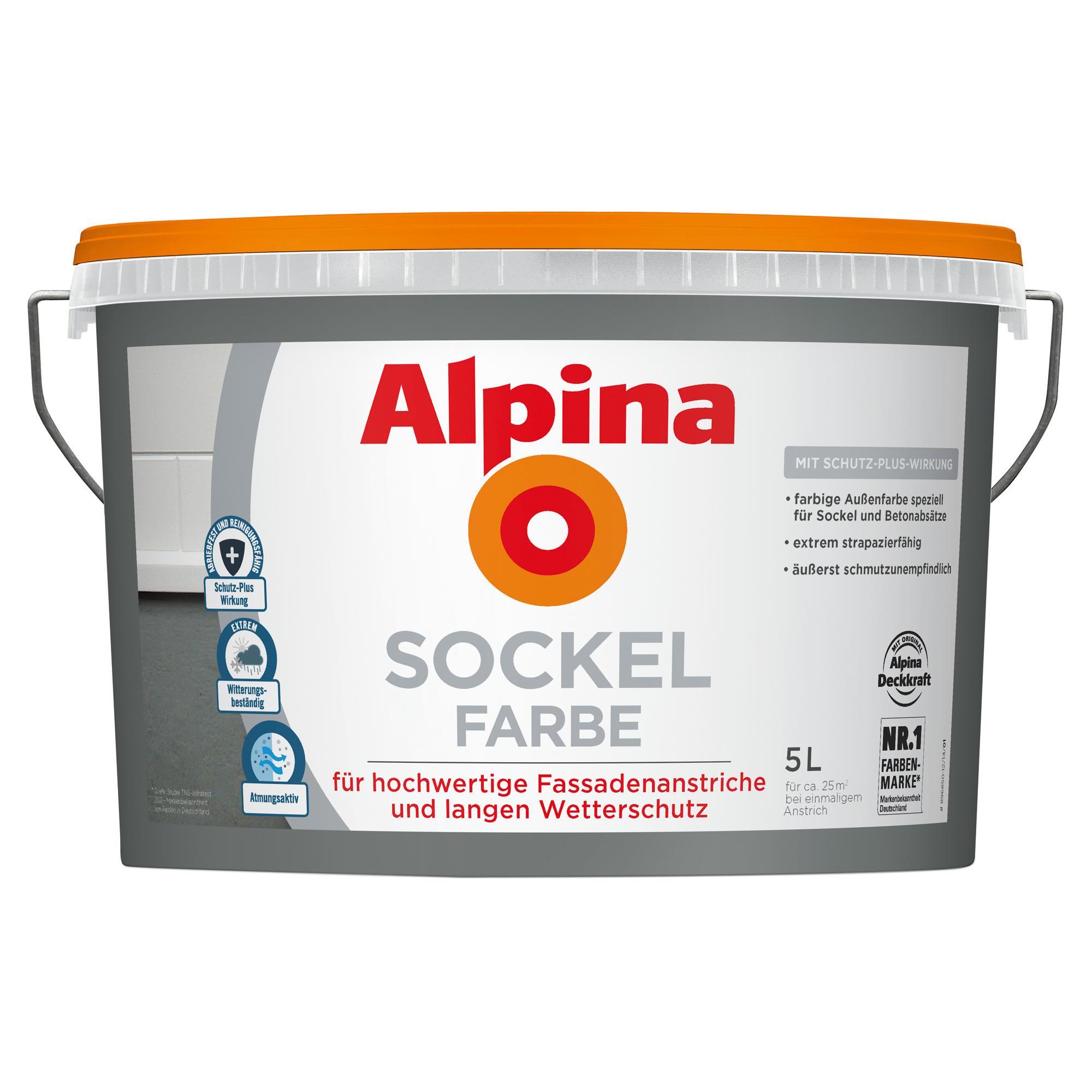 Alpina Sockelfarbe, 5 l, schiefer ǀ toom Baumarkt