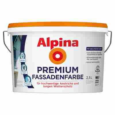 Premium Fassadenfarbe, weiß, 2,5 l