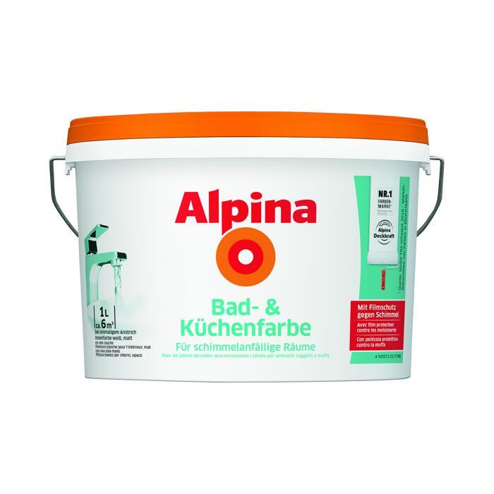 alpina bad- und küchenfarbe 1 l