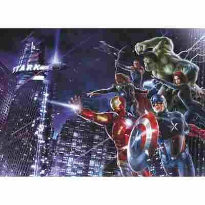 Fototapete 'Avengers Citynight' 254 x 184 cm