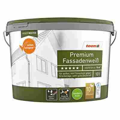 Premium Fassadenweiß seidenmatt 10 l